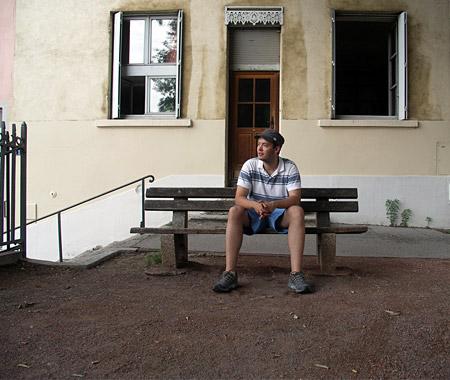 Fabian Schmidt in Lyon, Frankreich